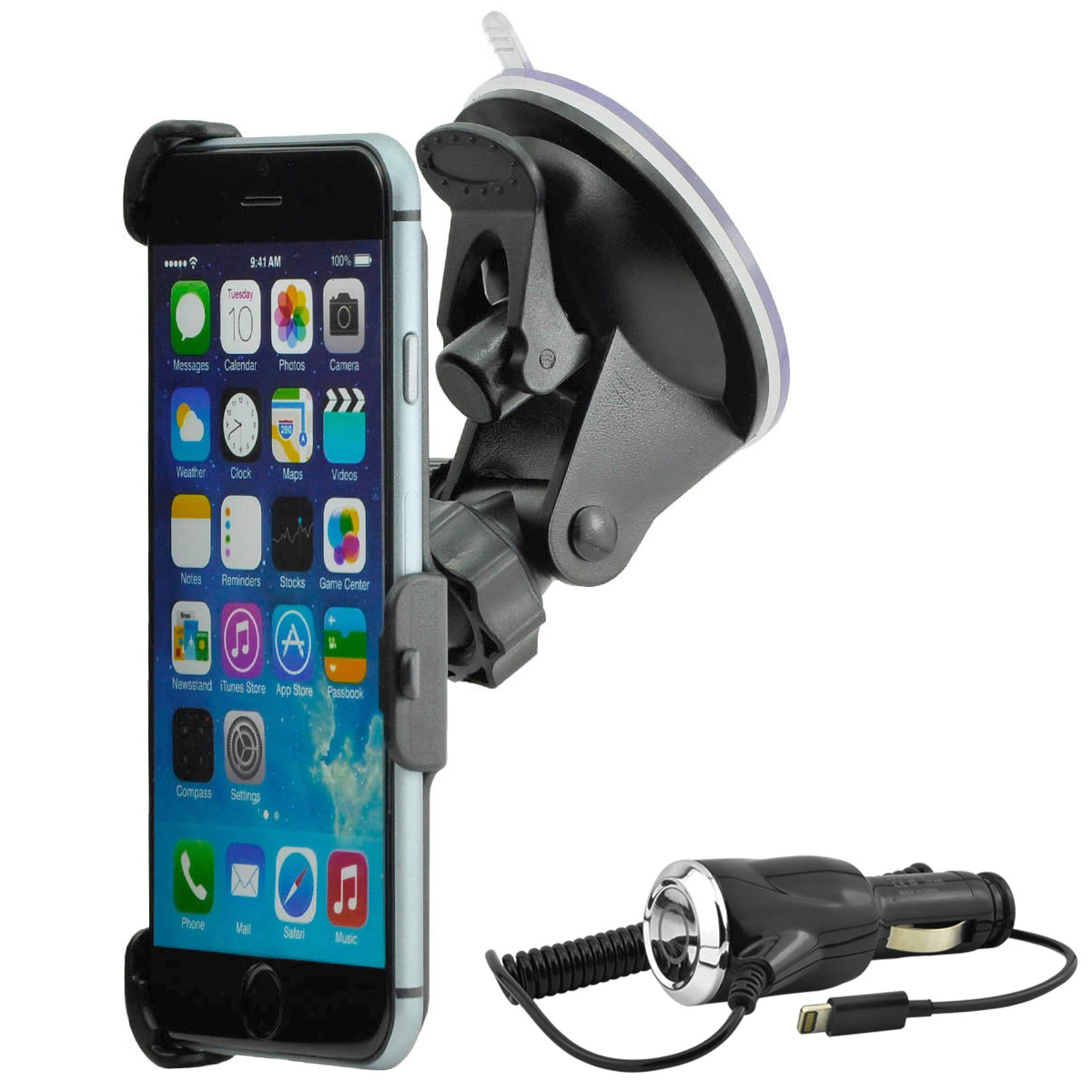 auto kfz handy halterung halter car holder mount f apple iphone 6s plus 6 plus ebay. Black Bedroom Furniture Sets. Home Design Ideas